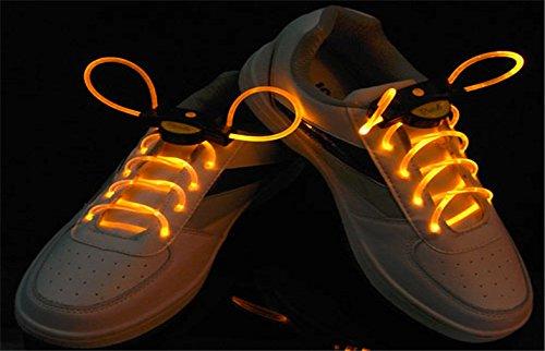 Platube Laces Magical Led Light Flashing ShoeLace - Orange  available at amazon for Rs.400