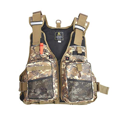 Fly Fishing Vest with Multifunction Pockets Adjustable-Size Mesh Backpack Fly Fishing Jacket Vest Yellow Mesh-fly Fishing Vest
