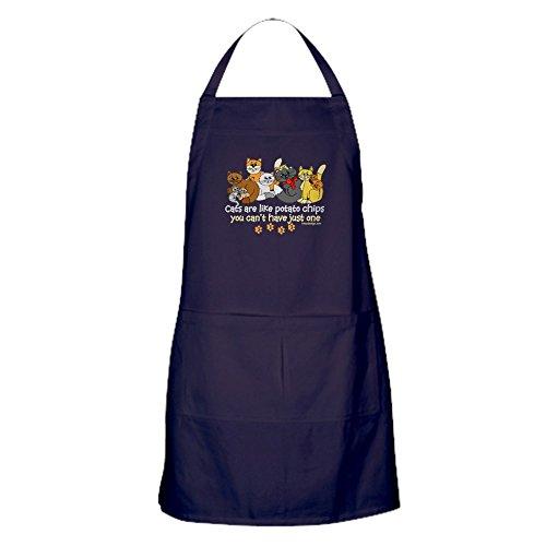 CafePress-Katzen sind wie Kartoffel Chips Schürze (dunkel)-100% Baumwolle Küche Schürze mit Taschen, perfekt Grillen Schürze oder Backen Schürze