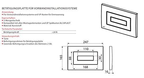 WC Vorwandelement für Trockenbau 85 cm inklusive Betätigungsplatte Schwarz Typ Cube Unterputzspülkasten Spülkasten Wand WC hängend Schallschutz