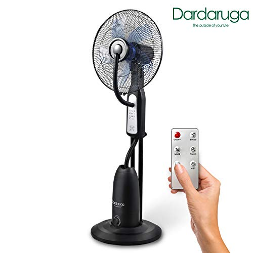Dardaruga - Ventilador analógico con pulverizador de agua Wfd con mando a distancia