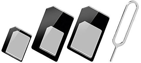 Goobay 43929 Sim Karten Adapter schwarz