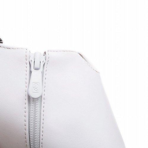MissSaSa Donna Scarpe col Tacco Cono Alto Elegante e Classico Bianco