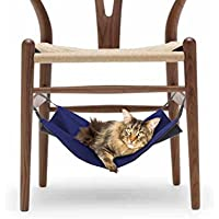 Namsan Pet Cage Hammock,Cat Crib,Kitten Hanging Hammock Bed,2 in 1 Summer&Winter,Waterproof Oxford Fabric,Blue-L