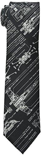 Star Wars corbata para hombre, blue print - negro -