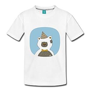 Teddybär Party Kinder Premium T-Shirt von Spreadshirt®, 110/116 (4 Jahre), Weiß