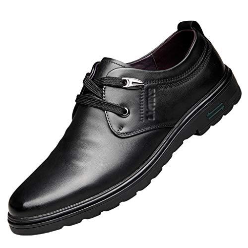 Herren Casual Smart Schwarzes Rindsleder Schnürschuhe Braun Bequeme Oxford Formelle Schuhe Business Und Tägliche Kleidung Weiche, Flache Fahrschuhe,A- 6 UK / 40 EU -