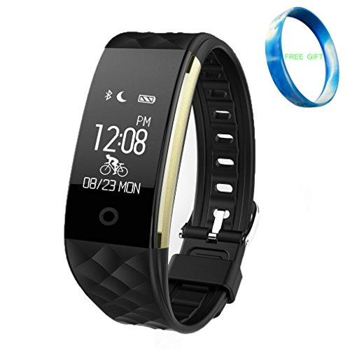S2 Bluetooth (Smart Armband S2, JIAMEIYI Smartband Herzfrequenz Messgerät Mit Schlaf und Sport Tracker Multifunktional Bluetooth wasserdicht Armband mit OLED Display (Schwarz))