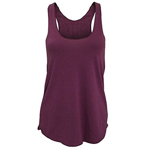 american-apparel-womens-ladies-plain-tri-blend-racerback-tank-vest-top-s-tri-cranberry