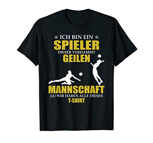 Lustiges Spieler Trainer Volleyball Mannschaft T-Shirt