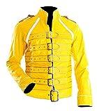Grab Jacket Freddie Mercury - Costume di Carnevale da Concerto, in Pelle, da Donna, Colore: Giallo Mercury Giallo XXS