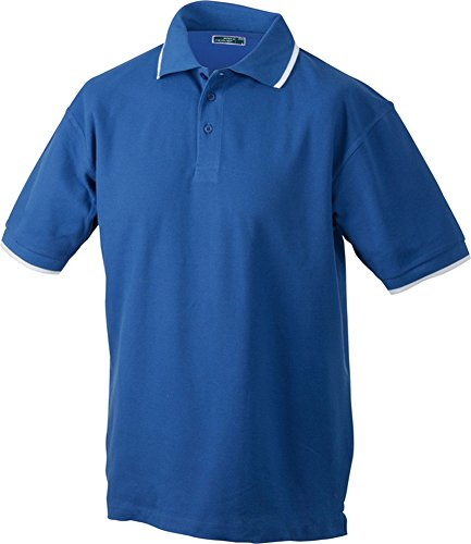 Polo Tipping (S - 3XL) Royal/White