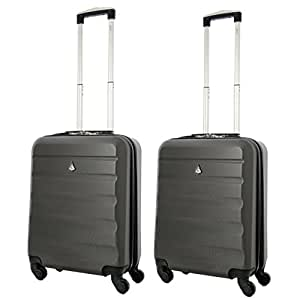 aerolite 55x40x20 ryanair taille maximale 40l abs bagage cabine bagage main valise rigide. Black Bedroom Furniture Sets. Home Design Ideas