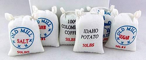 Melody Jane Miniatura Casa Bambole Fattoria Negozio Accessorio Set di 6 Cibo Alimentatore Sacchi 2265