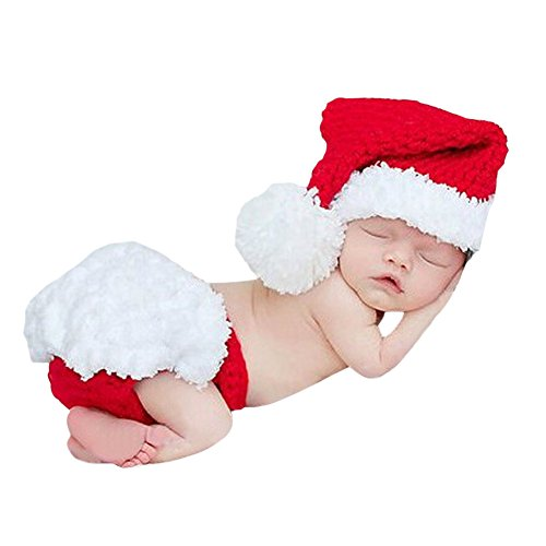 CHIC-CHIC Bébé Déguisement Costume Prop Photographie Bandeau Cheveux Fleur Ange 0-6M Halloween Père Noël Bonnet Cadeau