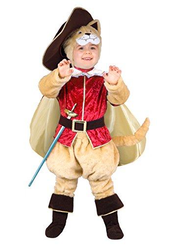 Carnevale Italienische Kostüm - Ciao 14792-gestiefelter Kater Kostüm 2-3 anni Beige/Rosso/Marrone
