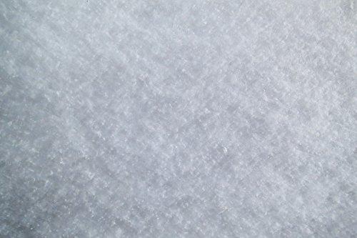 Schneeflocken Matte 1,5 x 2,5 m (EUR 4,77/ m²), 100g m², ca.1 cm dick, 3.75 m², aus Baumwolle, kompostierbar, Schneematte, Schneedecke mit Schneeflockenoptik