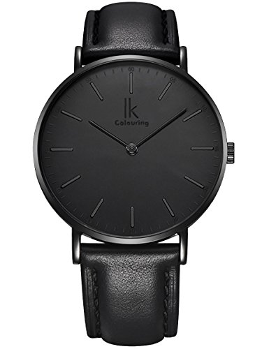 Alienwork IK All Black Montre Femme Homme Mixte