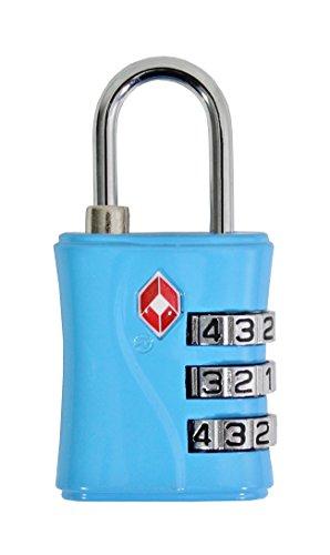 Alistair lucchetto per valigie, blu (blu) - tsa - 554 - blue