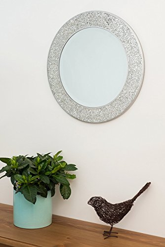 home-treats-round-silver-mosaic-wall-mirrorcrackle-silver-frame-40-x40cm-new