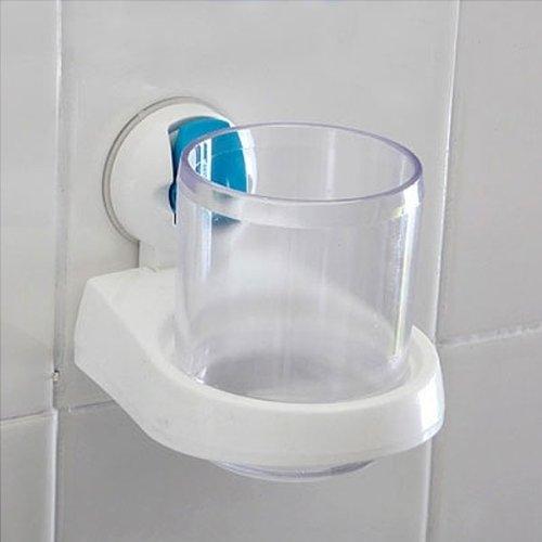Étui à rabat mur d'absorption à ventouse dentifrice Brosse à dents tasse Titulaire de bain