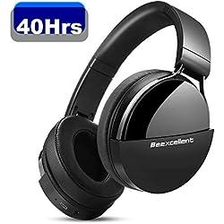 Casque Bluetooth sans Fil, Beexcellent Q7 Casque Audio Stéréo Hi-FI 40 Heurs de Lecture Bluetooth 5.0 avec Microphone Intégré CVC 6.0 Over-Ear Compatible Téléphone Tablette PC