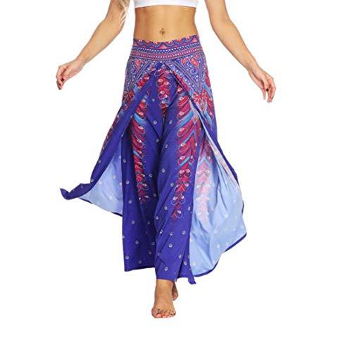 Uicici pantaloni di yoga di stampa digitale porpora dei pantaloni di yoga per forma fisica (size : l/xl)