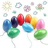 Ventvinal Kleinkinder wachsmalstifte, 9 Farben Eiförmige Handflächengriff Farbstifte Zeichenstift für Kleinkinder und Kinder, Sicher und Nicht Toxisch