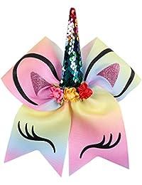 accesorios para el cabello NiceButy unicornio atan accesorio de pelo de unicornio de la niña con un arco, adecuado para las niñas, múltiples colores Ropa Accesorios