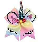 mi ji Unicorn Hair Ties Baby Girl Einhorn Haarringe mit Schleife für Mädchen, verschiedene Farben