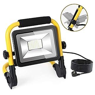 Foco LED Proyector 50W, Super Brillante Luz de Trabajo 4500LM, 3 Modos Foco LED Reflector para Trabajo Exterior Impermeable IP66, FocosLEDExterior con Cable de 5 Metros, 1 gancho, AC100-265V