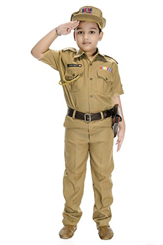 Smuktar Garments Indian Police Service (IPS) Costume For Kids (1 to 11 Years)