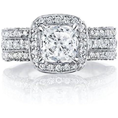 Ryan Jonathan gia Certificato Cuscino Diamante Taglio Anello in platino (3.00cttw, F/VS) - Taglio Cuscino Diamante