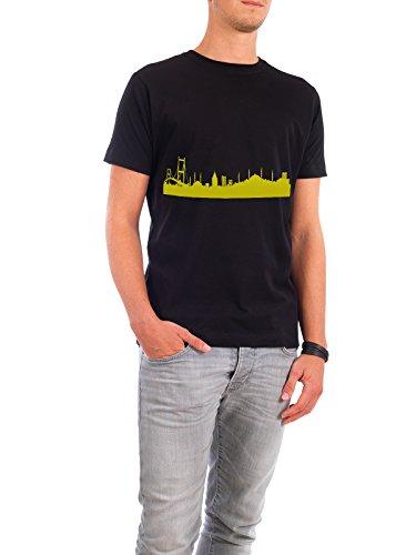 """Design T-Shirt Männer Continental Cotton """"Istanbul 06 Skyline Spring-Green Print monochrome"""" - stylisches Shirt Abstrakt Städte Städte / Istanbul Architektur von 44spaces Schwarz"""