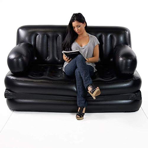Cal C 5 in 1 Plastic Inflatable Sofa Air Bed with Air Pump