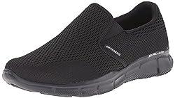 Skechers Sport Mens Equalizer Double Play Wide Slip-on Loafer, Black, 9 2E US