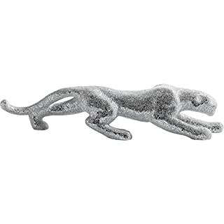 KARE Deco Figurine 38693 Panther Deluxe Mosaic Silver Glass, Accessories, Silver, 20 x 108 x 24.2 cm