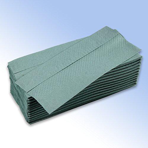 2800Mitte gefaltet Papier Handtuch Blatt 220x 330mm 1-lagig grün C-Falz