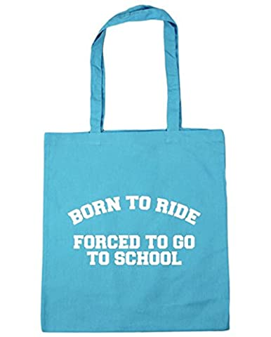 HippoWarehouse Born to ride forced to go to school Tote Shopping Gym Beach Bag 42cm x38cm, 10 litres