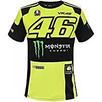 Valentino Rossi VR46 Moto GP Monster Energy Replica Camiseta Oficial 2018