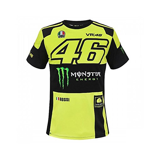 Valentino Rossi VR46 Moto GP Monster Energy Replica T-Shirt Offiziell 2018 (Monster Energy T-shirts)
