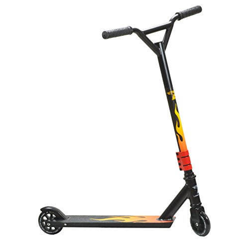 Trottinette Stunt Land Surfer® Noir/Flamme