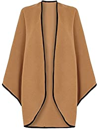 Wool & Cashmere Cape with Trim