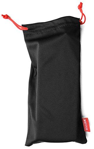 veryme PREMIUM Microfaser Microfibre Beutel Sack Etui Case Tasche Hülle Pouch für Schmuck Brille Handy Smartphone Stifte Kosmetik Netzgerät Kamera Accessoires Zubehör in schwarz