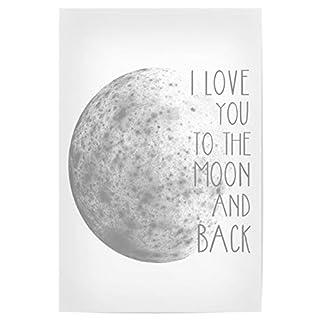 artboxONE Poster 30x20 cm I Love You to The Moon and Back von Künstler Tanya Kart