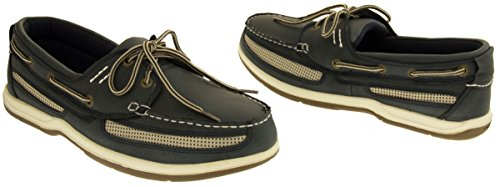Island Surf Co. Cuir Synthétique Chaussures de Voile Hommes Marine