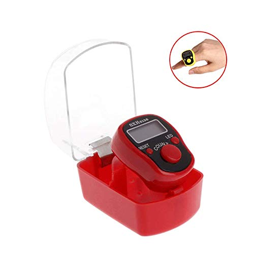 HWZXC Fingerzähler, Elektronisches Minidisplay, Digitales Display Geeignet für das Mobile Zählen von Golf-Digitalpunkten LCD-Zähler (Zufällige Farbe) -