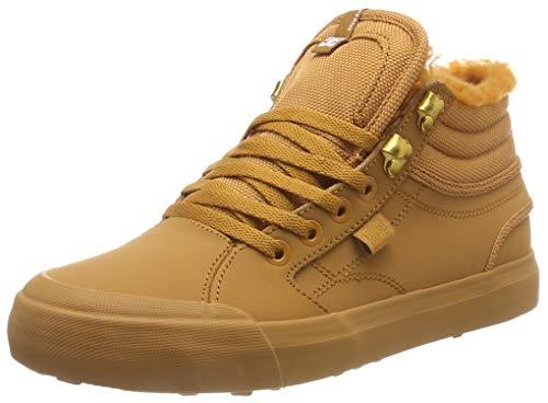 DC Shoes Evan Hi Winter, Scarpe da Skateboard Donna, Marrone (Wheat We9), 37 EU