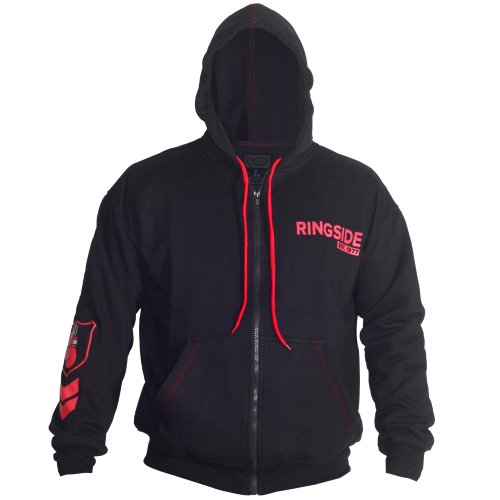 Ringside Youth Industry Domination Hoodie, Black/Red, Large