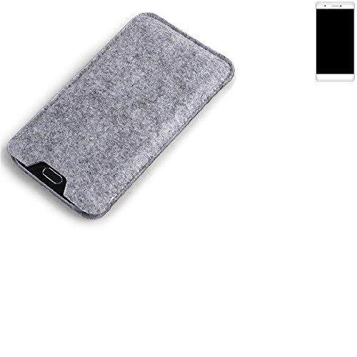 K-S-Trade Filz Schutz Hülle für Phicomm Passion 2S Schutzhülle Filztasche Filz Tasche Case Sleeve Handyhülle Filzhülle grau